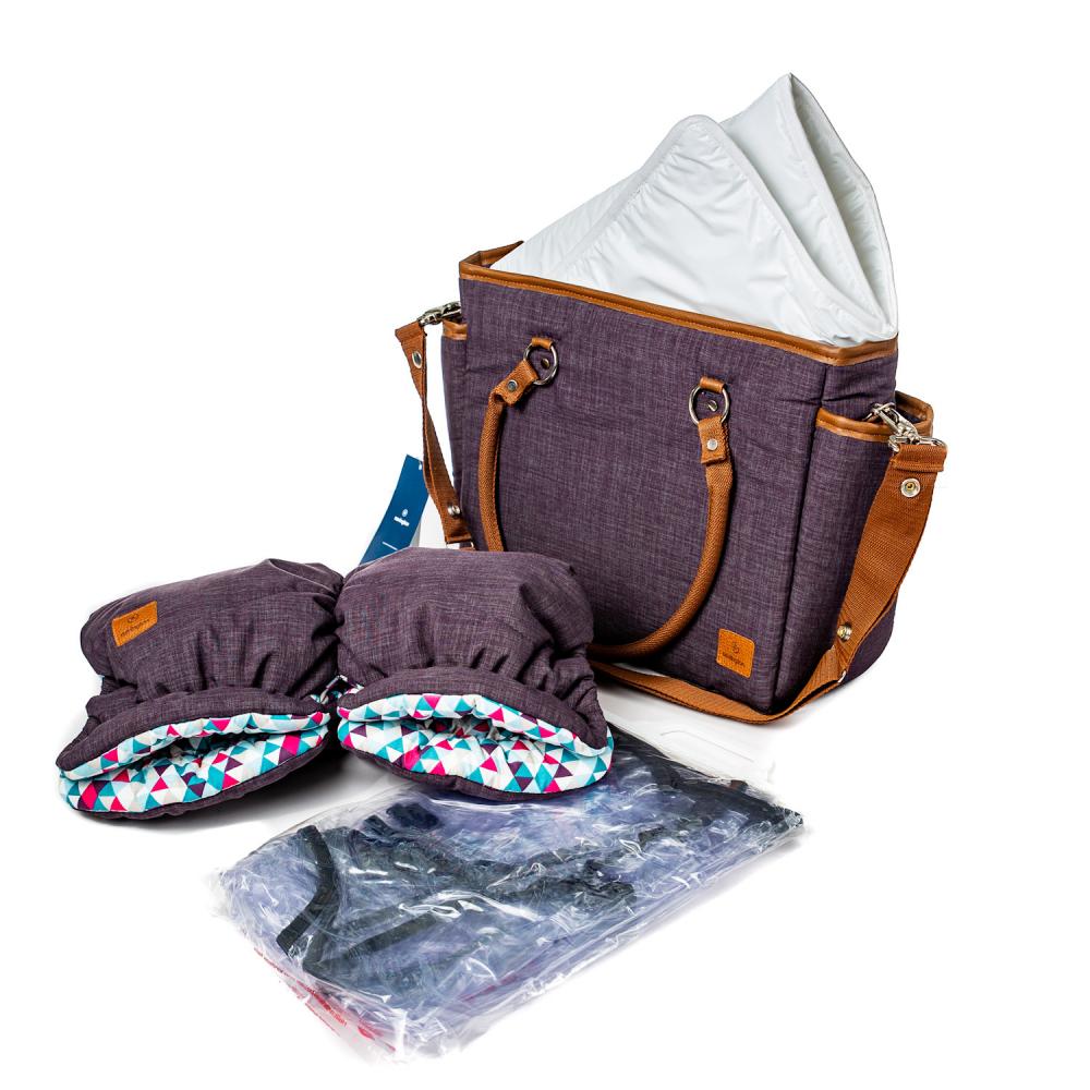 Navington Caravel: сумка с пеленальным матрасиком в комплекте, муфта (опционально)
