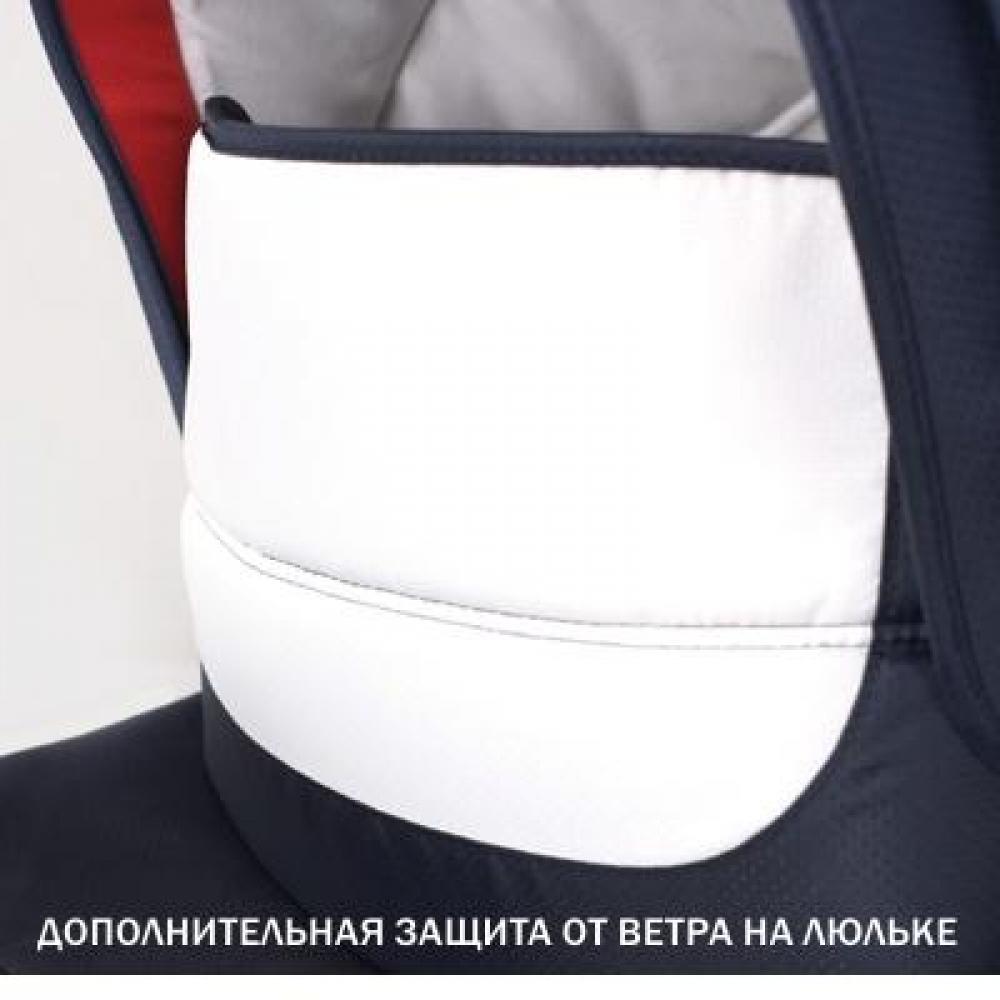 Защитный бортик на люльке можно поднять и защитить ребенка от ветра