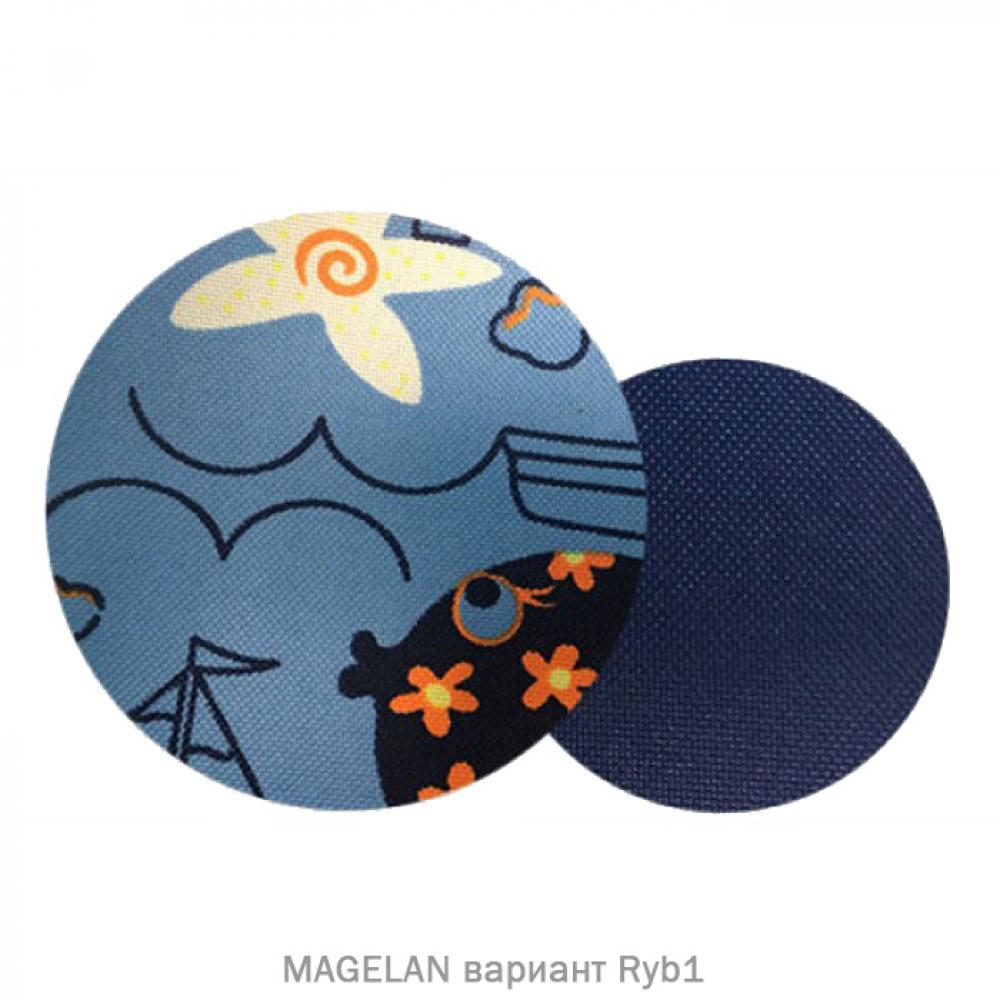 Прогулочная коляска MAGELAN. Цвет Ryb1 (синий с рисунком)