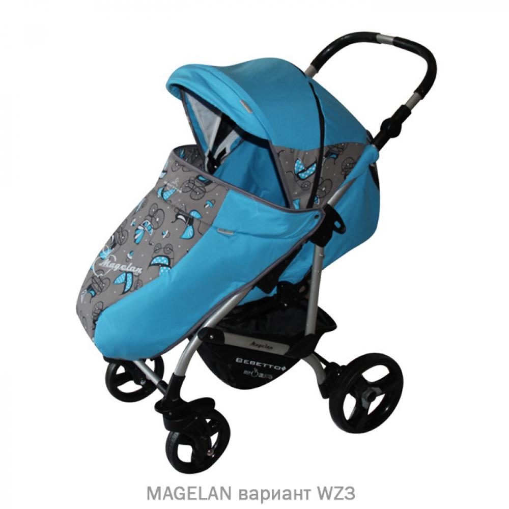 Прогулочная коляска MAGELAN. Цвет WZ3 (синий с рисунком)