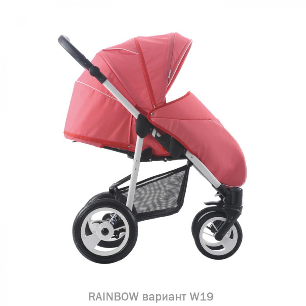 Прогулочная коляска RAINBOW. Цвет W19 (розовый)