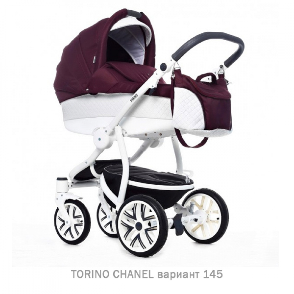 Детская коляска 2 в 1 TORINO CHANEL «зима — лето». Цвет 145
