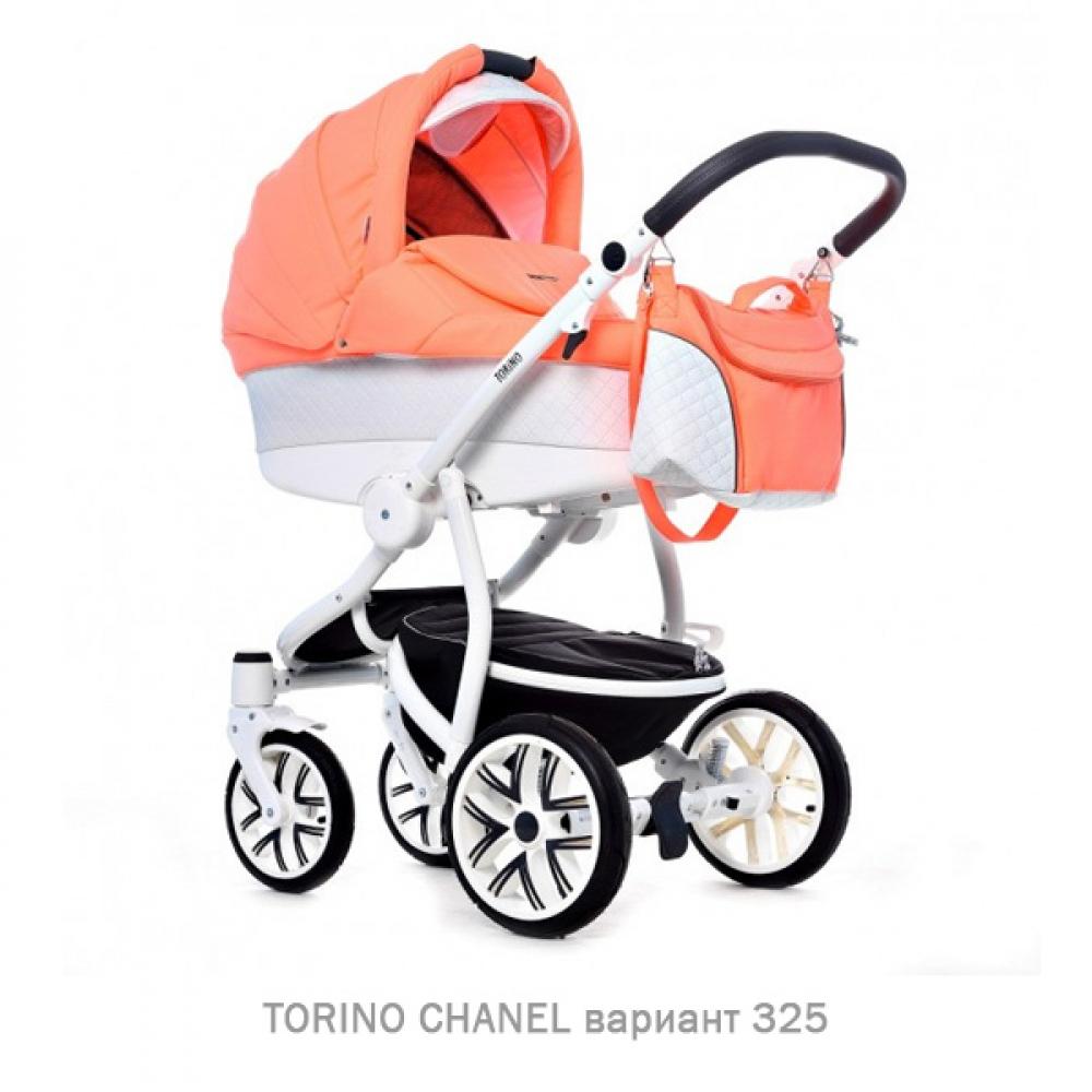 Детская коляска 2 в 1 TORINO CHANEL «зима — лето». Цвет 325