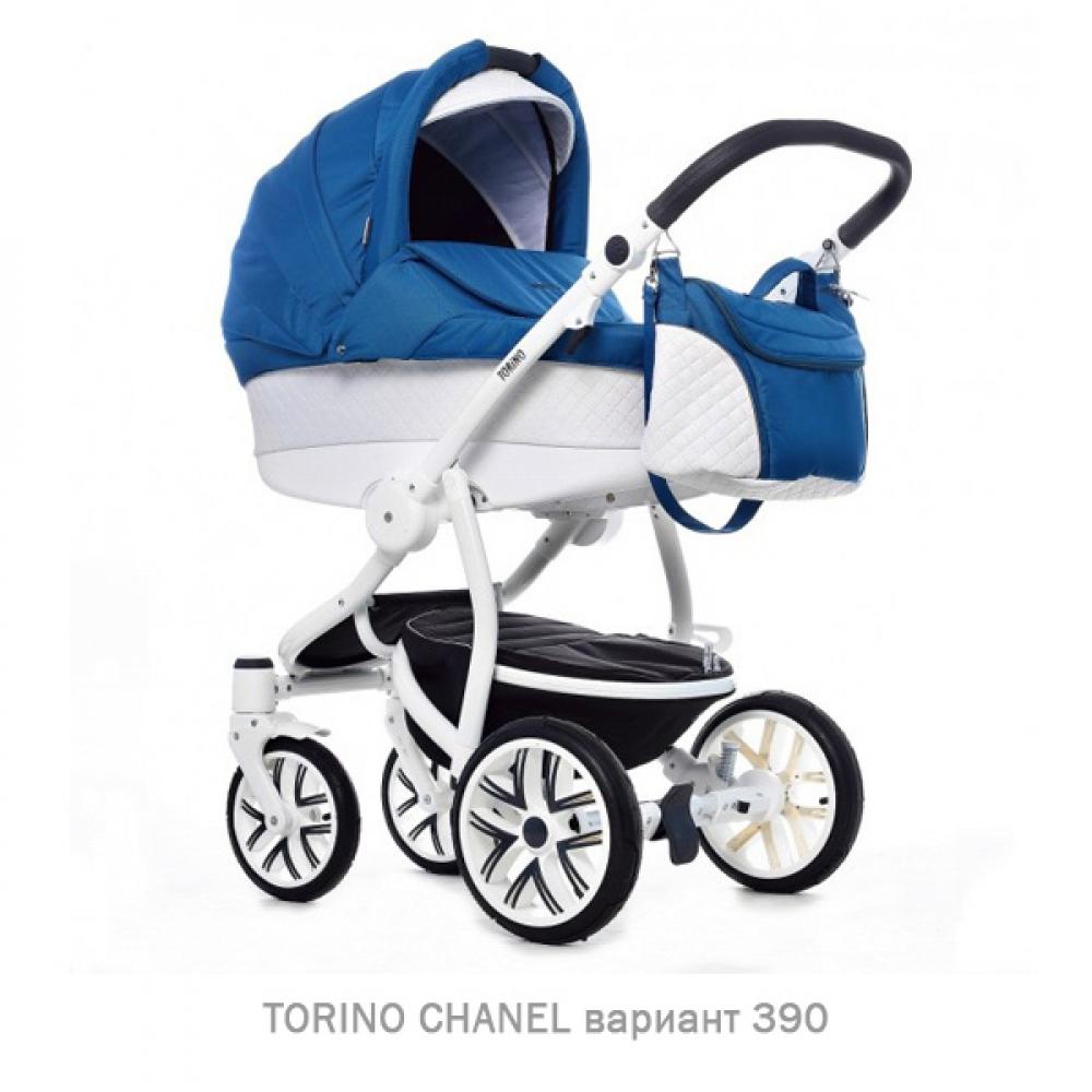 Детская коляска 2 в 1 TORINO CHANEL «зима — лето». Цвет 390