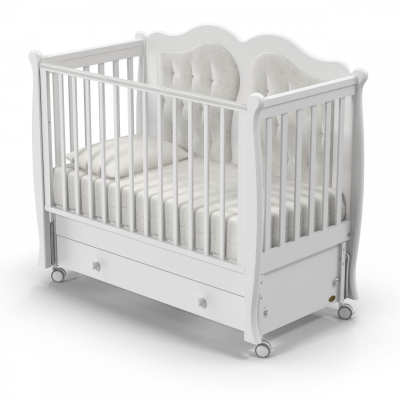 Кроватка Affetto swing 120х60 с продольным маятником на колёсах