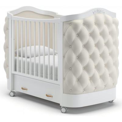 Кроватка на колесиках Тиффани декор пуговицы 120x60