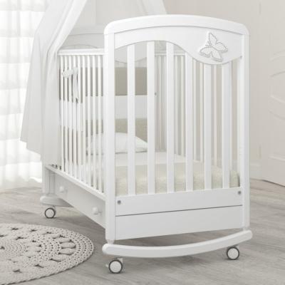 Кроватка-качалка Джулия Бабочка 120x60