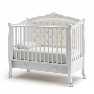 Кроватка на колесиках Жанетт new с ящиком 120x60