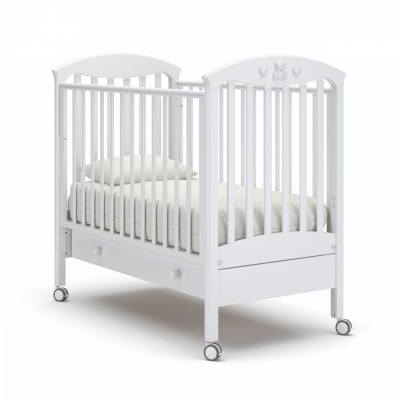 Кроватка на колесиках Марсель с ящиком 120x60