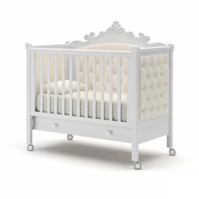 Кроватка на колесиках Лиона с ящиком 120x60
