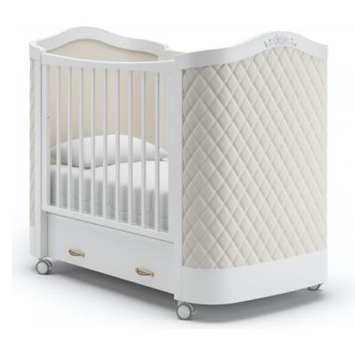 Кроватка на колесиках Тиффани декор ромб 120x60