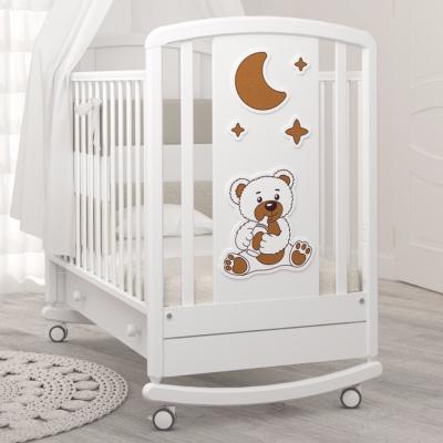 Кроватка-качалка Жаклин (мишка с соской) 120x60